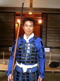 2011年5月 比叡山にて足軽に扮した本人