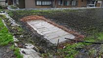 畑に作ったプール