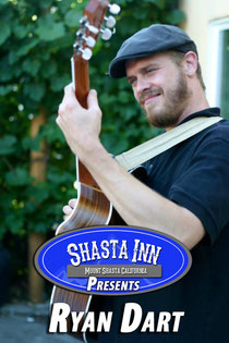 Ryan Dart is a regular player in the Mount Shasta music scene and averages at least one gig monthly at the Shasta Inn