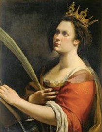 "4. ""Sainte Catherine d'Alexandrie"", 1618-20, Florence, Galleria degli Uffizi, réserves © Studio Perotti (source : dossier de presse)"