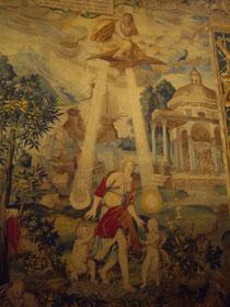 """Broderies de l'Arsenal, """"La Tenture de Diane"""", détail, Musée National de la Renaissance (photo : A. Lionetto-Hesters)."""