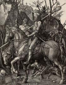 "Albrecht Dürer, ""Le Chevalier, la Mort et le Diable"", 1513, Albertina (source : http://www.albertina.at)"