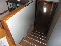 工事前の階段