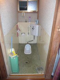 既存トイレの敷居