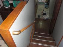 工事後の階段(手すり)