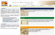 Le site des archives départementales du Haut-Rhin