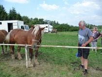 Claude MARTIN un passionné de chevaux comtois