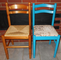 diy relooking de chaises id claire d coration. Black Bedroom Furniture Sets. Home Design Ideas