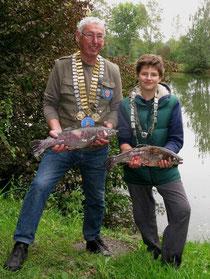 Fischerkönig Peter Lehmann und Prinz Konstantin Zeller