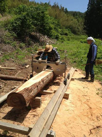 セルフビルド 木の加工