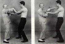 Yip Man e Bruce Lee facendo Chi Sao