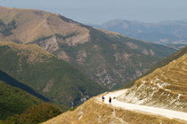 Walking in the Sibillini Mountains National Park