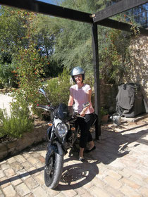 Our guests' bike and me being a bikie......sort of!