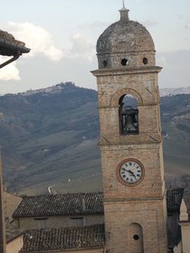 The bell tower of Sant'Agostino in Monte San Martino