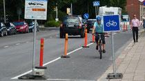 Umleitung für RadfahrerInnen in Turku