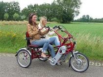 Ausflug mit einem Dreirad