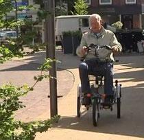 Unterwegs mit dem Scooter Dreirad von Van Raam