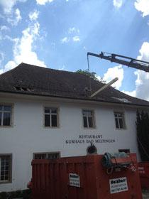 Einbau neuer Dachbalken