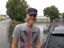 Rocker Drummer Bart Auto Regen