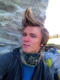 Lustige Frisur Buff Haare Pause Rast Braunschweiger Hütte Similaun Hütte Grenze Italien Osterreich Alpen E5 Berge Wandern