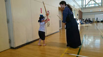 幼稚園児の剣道稽古