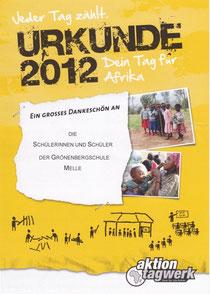 Urkunde - Dein Tag für Afrika
