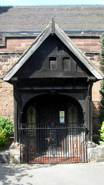 The 15th-century porch