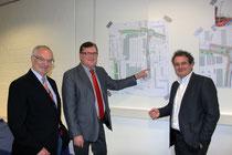 Präsentierten den derzeitigen Planungsstand: Günter Rahlfs, Alexander Heuer und Carl Matthias Rathgen (v.l.).