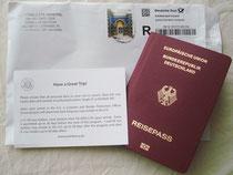 Mein Visum :)