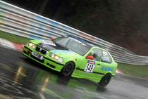BMW 318ti Compact in the VLN Race at the Nurburgring