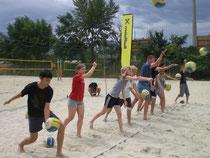 Beachvolleyball mit Berger/Nowotny