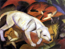 "Franz Marc ""Chien, renard et chat"""