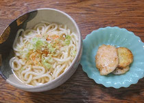 生うどん(釜揚げ)&鶏・芋・蓮根の甘辛