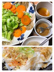 茹で野菜&4種のソース