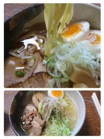 平太麺・塩としゅうゆラーメン