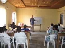 Eric teaching in DTS at Kaduna