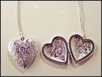Silber Herz Madaillon