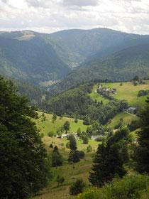 Blick Schauinsland zum Feldberg