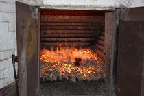 Torffeuer für die Kiln