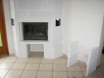 Pon age et lissage chemin e foyer ferm - Cheminee beton cellulaire ...