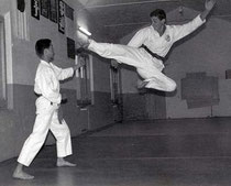 Flying kick preformed by Sensei in his younger days.
