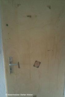 Zu bearbeitende Tür