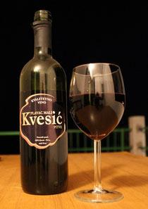 Вино Kvesić из винограда Плавац Мали с о. Хвар