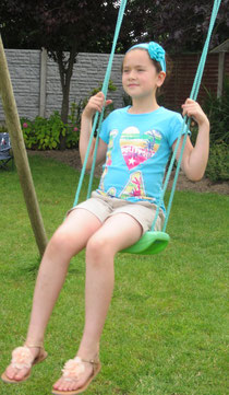 Vicky on the swing