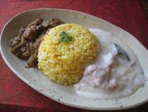 乾物カレー&米粉のホワイトカレー