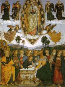 """Pinturicchio, """"Assuzione delle Vergine"""""""