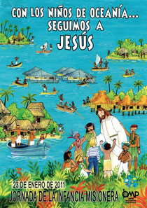 Cartel de la Jornada de la Infancia Misionera 2011