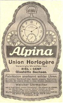 """Werbeanzeige aus der Zeitschrift """"Die Woche"""" von 1914"""