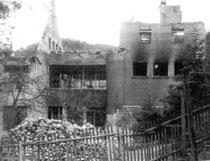 Das zerstörte Fabrikgebäude der Firma A.Lange & Söhne