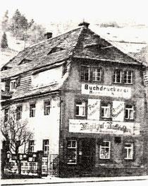 In der Mansarde dieses Hauses begann die Firma A. Lange & Cie. ihre Arbeit
